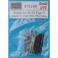 Tracks 1/72 for Pz.VI Tiger I, transport, single links (48 per set)