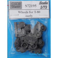 Wheels set 1/72 for T-80, early