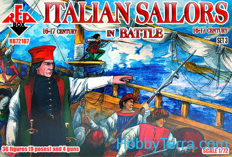 Red Box  72107 Italian Sailors in Battle, 16-17th century, set 3