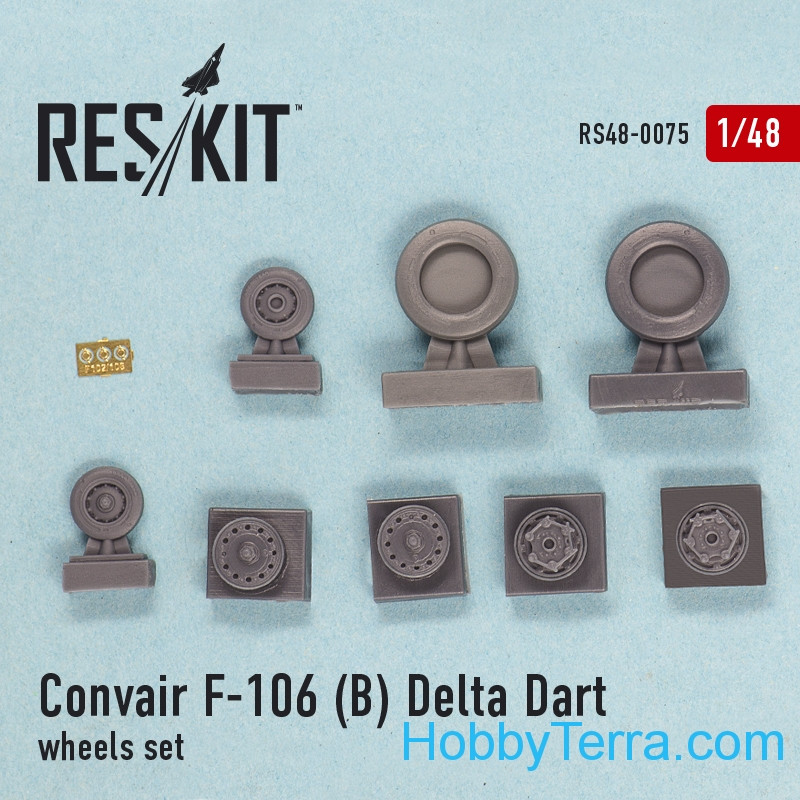 "RESKIT  48-0075 Wheels set 1/48 for Convair F-106B ""Delta Dart"""