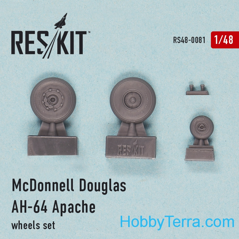 "RESKIT  48-0081 Wheels set 1/48 for AH-64 ""Apache"""