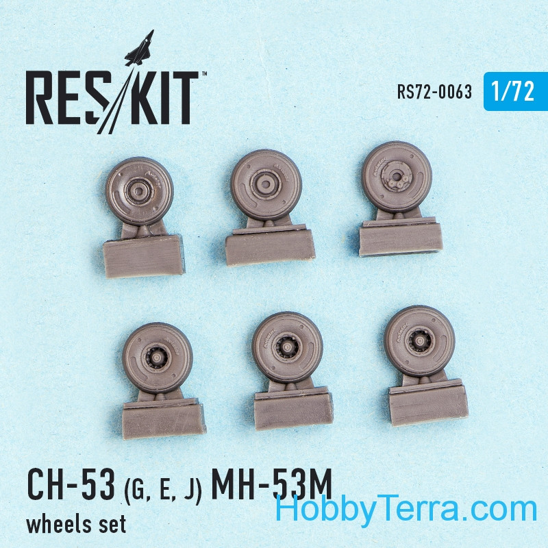 RESKIT  72-0063 Wheels set 1/72 for CH-53G/E/J, MH-53M