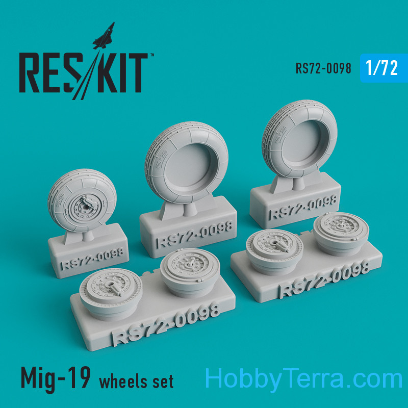RESKIT  72-0098 Wheels set for MiG-19
