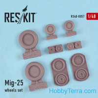 Wheels set 1/48 for Mig-25
