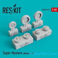 "Wheels Set 1/48 for Dassault ""Super Mystere"""