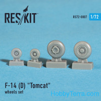 Wheels set 1/72 for F-14 (D) Tomcat