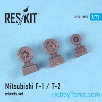 Wheels set 1/72 for F-1/T-2, for Hasegawa kit