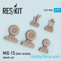 Wheels set 1/72 for MiG-15 (late version)