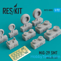Wheels set 1/72 for Mikoyan MiG-29 SMT