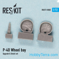 Wheel bay, upgrade & Detail set for P-40 (D, E, F, K, M, N)