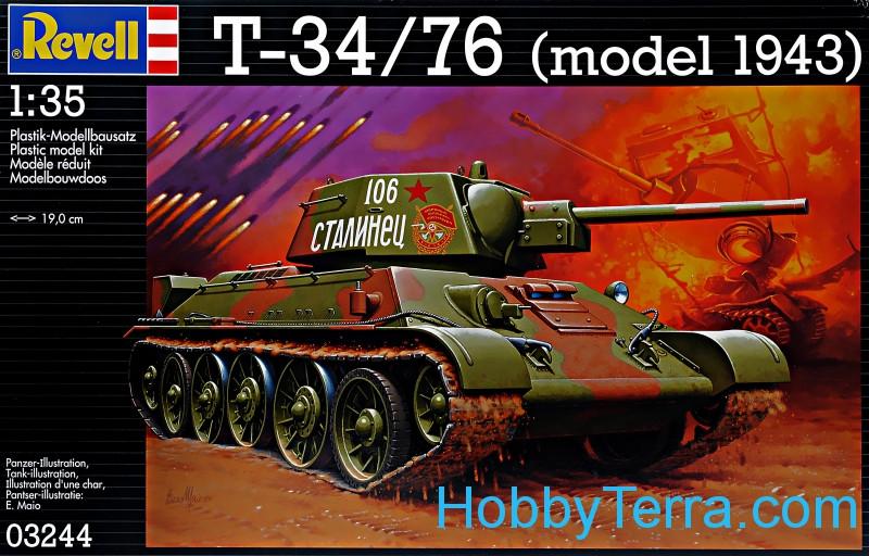 Tanque soviético T-34/76 [modelo 1943) Revell 03244 HobbyTerra.com