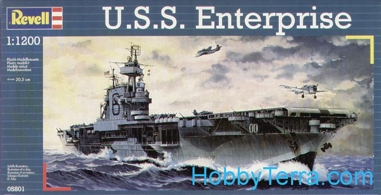 Revell  05801 USS Enterprise aircraft carrier