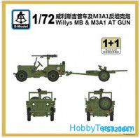 Willys MB with 37mm anti-tank gun (2 sets in the box)