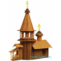 """Wooden"" church, paper model"