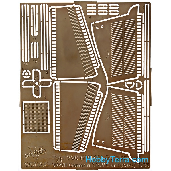 Vmodels  35028 Photo-etched set 1/35 MB typ 320 (W142) (hood), for ICM kit